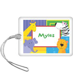 Jungle Animals Personalized Bag Tag (each)