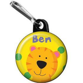 Jungle Animals - Tiger Personalized Mini Zipper Pull (each)