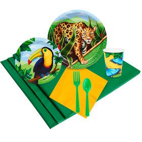 Jungle Party 16 Guest Party Pack