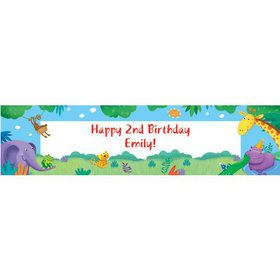 Jungle Party Personalized Banner (each)