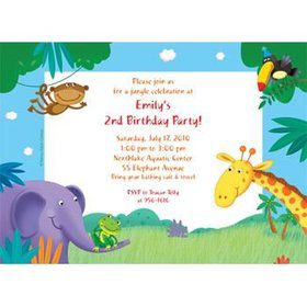 Jungle Party Personalized Invitation (each)