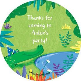 Jungle Party Personalized Stickers (sheet of 12)