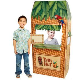 Jungle Party Tiki Hut Cardboard Cutout Standee - 5.5' Tall