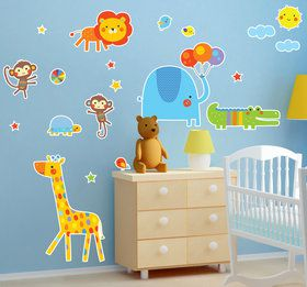 Jungle Zoo Animals Giant Wall Decal