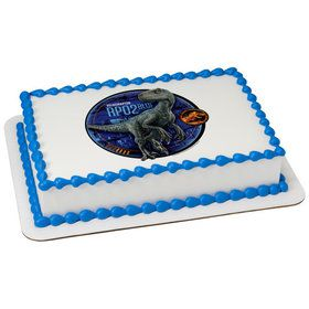 Jurassic World 2 Blue Quarter Sheet Edible Cake Topper (Each)
