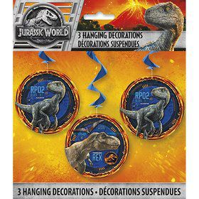 Jurassic World: Fallen Kingdom Hanging Swirl Decorations (3)