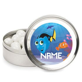 Just Keep Swimming Personalized Mint Tins (12 Pack)