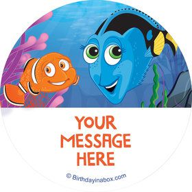 Just Keep Swimming Personalized Stickers (Sheet of 12)