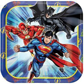 "Justice League 7"" Cake Plates (8 Count)"