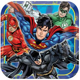 "Justice League 9"" Square Luncheon Plates (8 Count)"