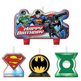 Justice League Birthday Candle Set (4 Pieces)