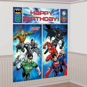 Justice League Scene Setter Wall Decorating Kit