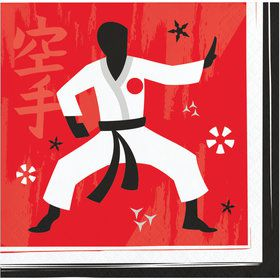Karate Beverage Napkins (16)