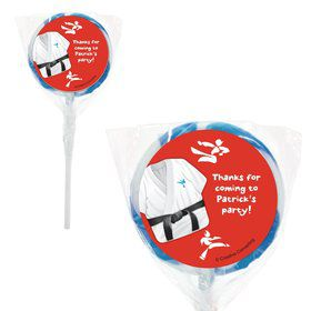 Karate Personalized Lollipops (20 Pack)
