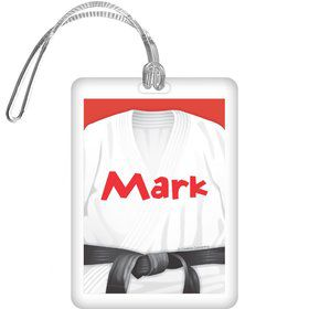 Karate Personalized Bag Tag (each)