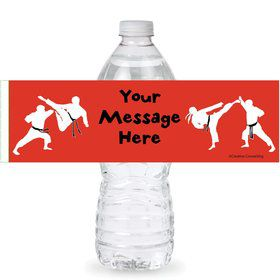 Karate Personalized Bottle Labels (Sheet of 4)