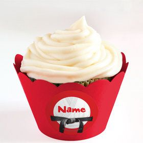Karate Personalized Cupcake Wrappers (Set of 24)