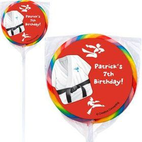 Karate Personalized Lollipops (pack of 12)