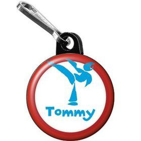 Karate Personalized Mini Zipper Pull (each)