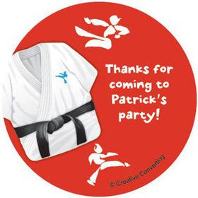 Karate Personalized Stickers (sheet of 12)