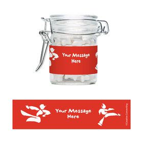 Karate Personalized Swing Top Apothecary Jars (12 ct)