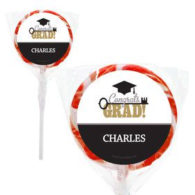 "Key To Success Graduation Personalized 2"" Lollipops (20 Pack)"
