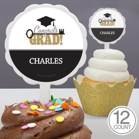 Key To Success Graduation Personalized Cupcake Picks (12 Count)