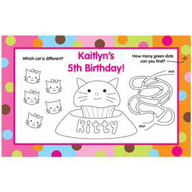 Kitty Personalized Activity Mats (8-Pack)