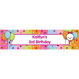Kitty Personalized Banner (each)