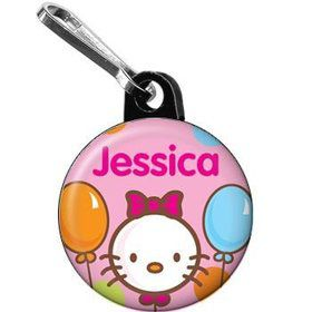 Kitty Personalized Mini Zipper Pull (each)