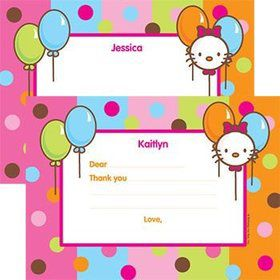 Kitty Personalized Thank You Note (each)