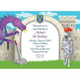 Knight Personalized Invitation (each)