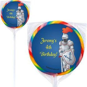 Knight Personalized Lollipops (pack of 12)