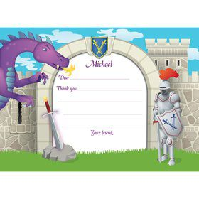 Knight Personalized Thank You Note (each)