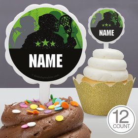 Lacrosse Personalized Cupcake Picks (12 Count)