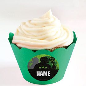 Lacrosse Personalized Cupcake Wrappers (Set of 24)