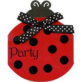 Ladybug party supplies kids party supplies party ideas ladybug party invitations 8 pack solutioingenieria Choice Image