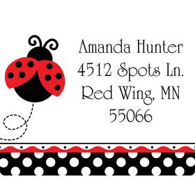 Ladybug Party Personalized Address Labels (Sheet of 15)