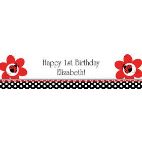 Ladybug Party Personalized Banner (each)
