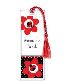 Ladybug Party Personalized Bookmark (each)