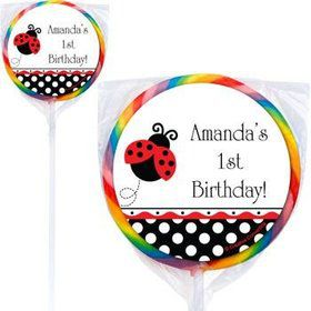 Ladybug Party Personalized Lollipops (pack of 12)
