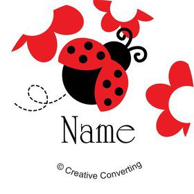 Ladybug Party Personalized Mini Stickers (Sheet of 24)