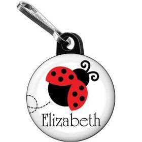 Ladybug Party Personalized Mini Zipper Pull (each)