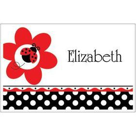 Ladybug Party Personalized Placemat (each)