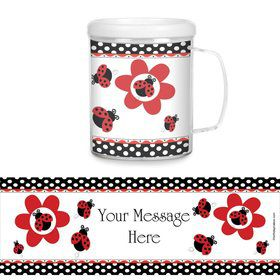 Ladybug Plastic Personalized Favor Mugs (Each)