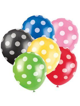 "Latex 12"" Dots Balloons (6 Pack)"