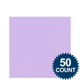 Lavender 2-Ply Beverage Napkins, 50ct.