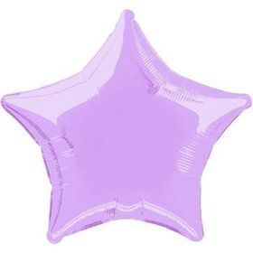 Lavender Star Mylar Balloon (each)