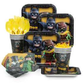 Lego Batman Standard Tableware Kit (Serves 8)