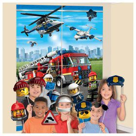 Lego City Backdrop Scene Setter with Props